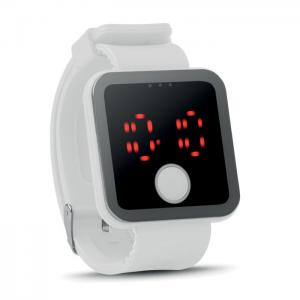 Zegarek LED biały
