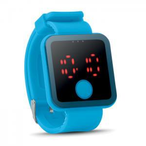 Zegarek LED turkusowy