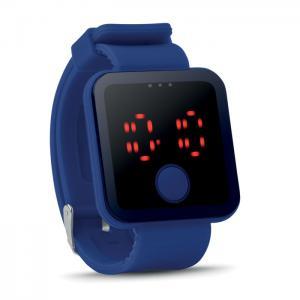 Zegarek LED niebieski