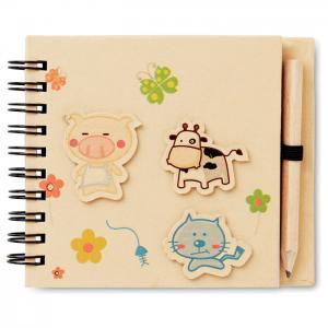 Notatnik dla dzieci z ołówkiem