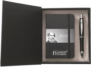 Zestaw upominkowy Charles Dickens, notatnik z długopisem