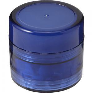Pojemnik z miętówkami, balsam do ust niebieski