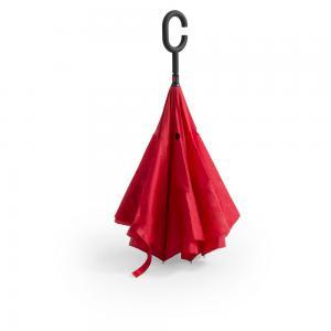 Odwracalny parasol czerwony