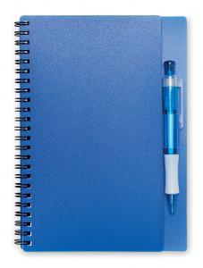 Notes z długopisem. 80 kartek przezroczysty niebieski