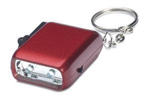 Mini latarka LED na dynamo czerwony