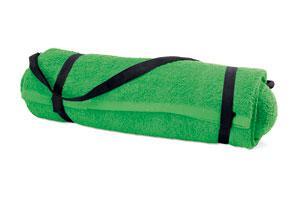 Ręcznik plażowy z poduszką zielony