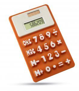 Kalkulator na baterię słoneczą pomarańczowy