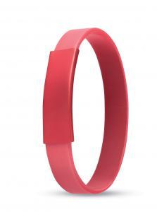 Silikonowa bransoletka czerwony