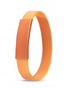 Silikonowa bransoletka pomarańczowy