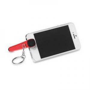 Podstawka pod telefon z brelokiem czerwony