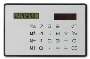 Płaski kalkulator srebrny