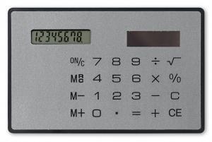 Płaski kalkulator tytanowy