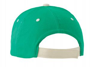 Czapka baseballowa 6 paneli, b zielony