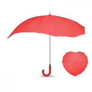 Parasol serce czerwony