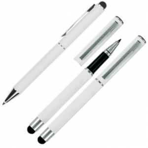 Zestaw piśmienny długopis i pióro kulkowe soft touch CLAUDIE