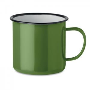 Kubek metalowy vintage zielony