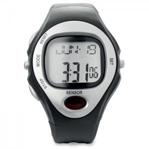 Sportowy zegarek elektroniczny srebrny mat