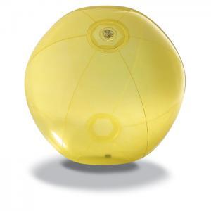Piłka plażowa z PVC żółty