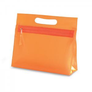 Przezroczysta kosmetyczka pomarańczowy