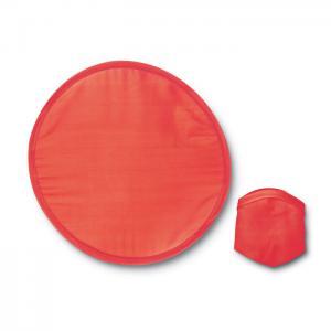 Nylonowe, składane frisbee czerwony
