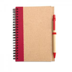 Notes z długopisem czerwony