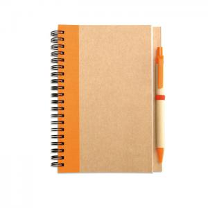 Notes z długopisem pomarańczowy