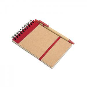 Notes z długopisem 70 kartek czerwony