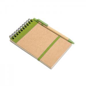 Notes z długopisem 70 kartek limonka