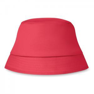 Kapelusz plażowy 160 gr/m² czerwony