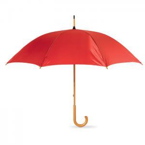 Parasol z drewnianą rączką czerwony