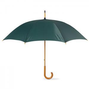 Parasol z drewnianą rączką zielony