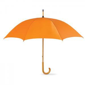 Parasol z drewnianą rączką pomarańczowy