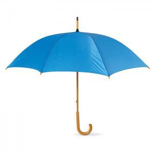 Parasol z drewnianą rączką niebieski
