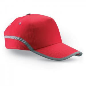 Czapka baseballowa z lamówką czerwony