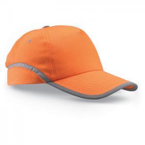 Czapka baseballowa z lamówką pomarańczowy
