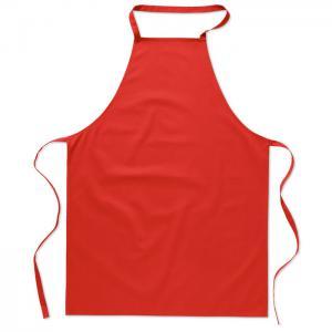 Bawełniany fartuch kuchenny czerwony