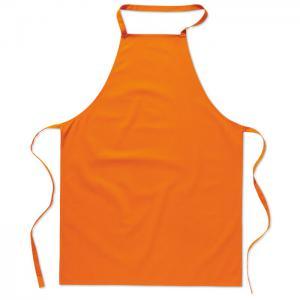 Bawełniany fartuch kuchenny pomarańczowy