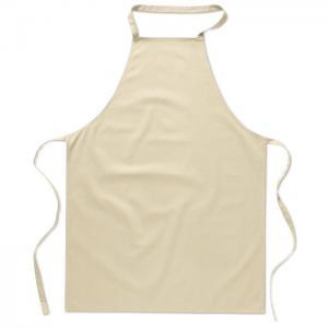 Bawełniany fartuch kuchenny beżowy
