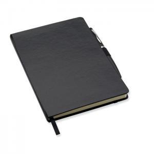 Notes A5 z długopisem czarny