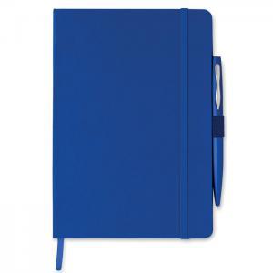 Notes A5 z długopisem granatowy