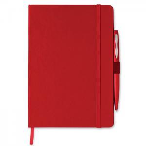 Notes A5 z długopisem czerwony