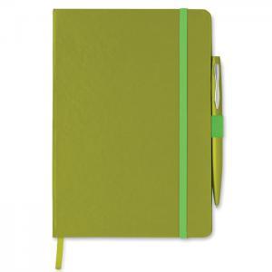 Notes A5 z długopisem limonka