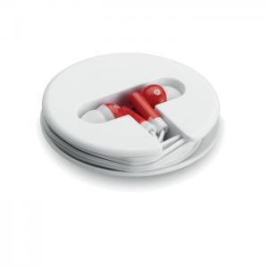 Słuchawki w silikonowym pudełk czerwony
