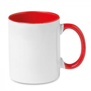 Kolorowy kubek przystosowany d czerwony