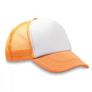 Czapka -bejsbolówka fluorescencyjny pomarańczowy