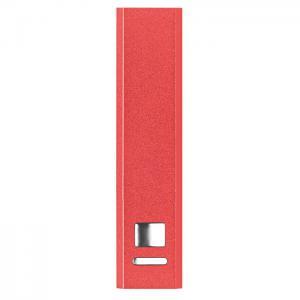 Powerbank w aluminium czerwony