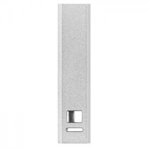 Powerbank w aluminium srebrny mat