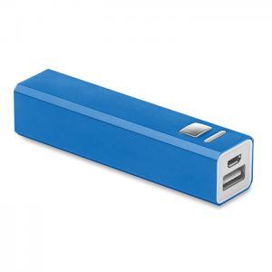 Powerbank w aluminium niebieski