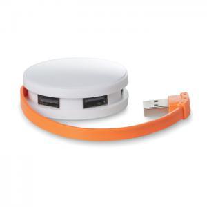 Rozdzielacz USB 4 porty pomarańczowy
