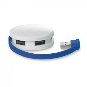 Rozdzielacz USB 4 porty niebieski